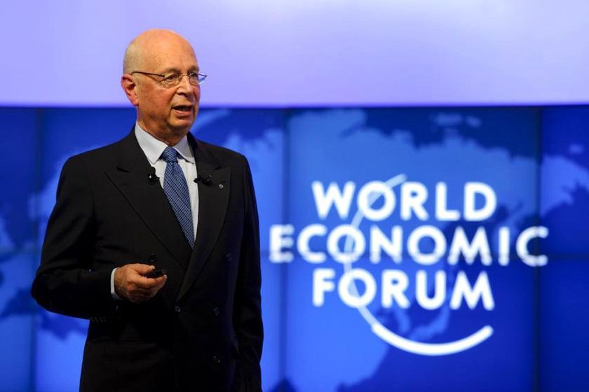 世界经济论坛创始人施瓦布在分论坛上讲话