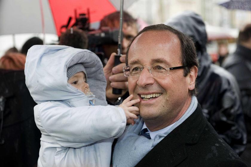 法国新任总统奥朗德图片