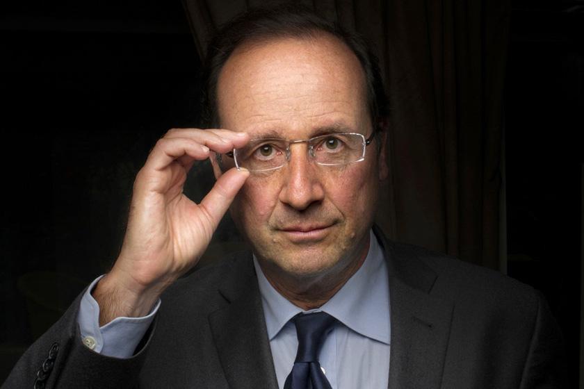 2012年1月3日,奥朗德在巴黎拍摄形象宣传照。 FRED DUFOUR/东方IC_法国新任总统奥朗德