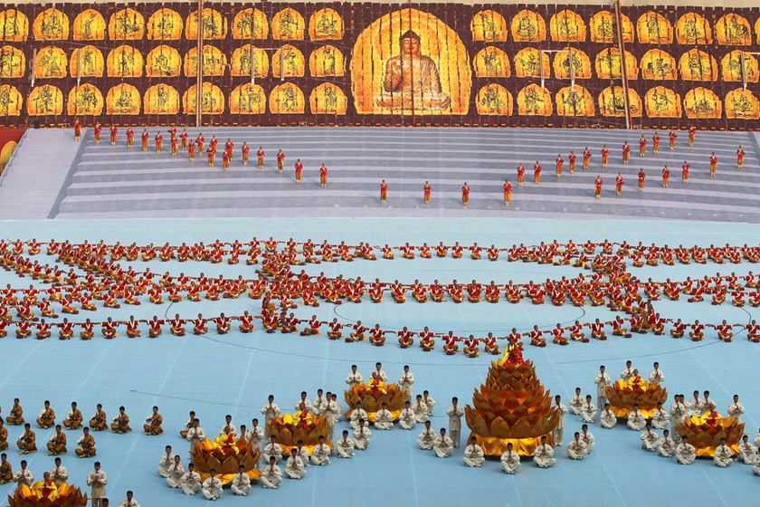 郑州少林武术节开幕万人参演攻略战机闪电图片