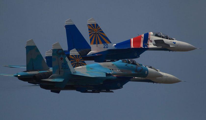 珠海航展 俄罗斯苏27战机空中展特技
