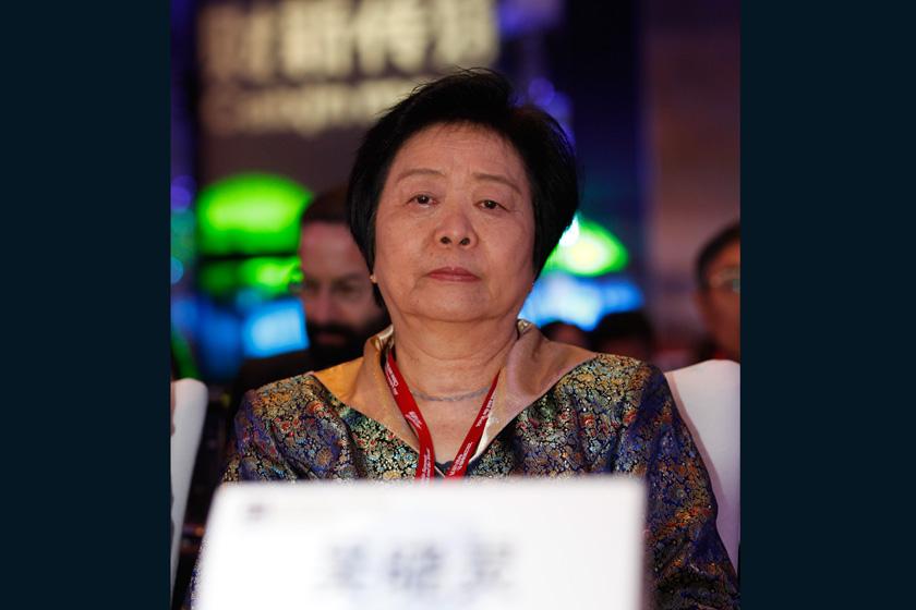 11月16日,2012财新峰会开幕式,嘉宾吴晓灵。    王攀/财新记者_2012财新峰会开幕式