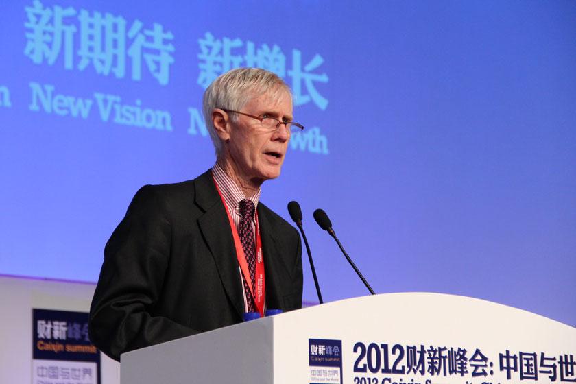 11月16日,亚洲协会美中关系中心主任夏伟主持。    王可/财新记者_投资美国:加州案例分享