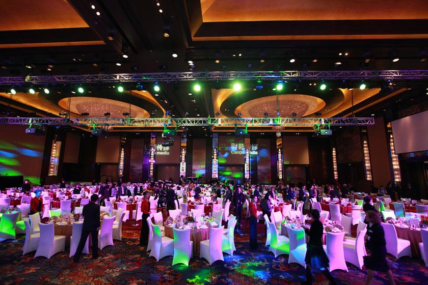 11月16日,2012财新峰会晚宴现场。     王攀/财新记者_晚宴
