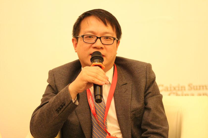 11月16日,中国文化产业投资基金管理有限公司副总经理陈杭。   王可/财新记者_议题:PE的问题