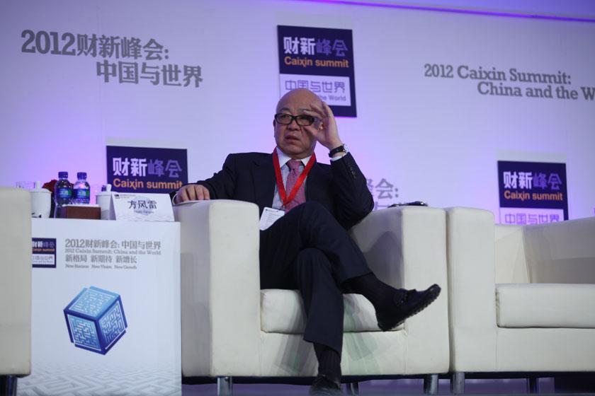 11月17日,高盛高华证券有限公司董事长、厚朴投资董事长方风雷。   牛光/财新记者_议题:中国经济新增长