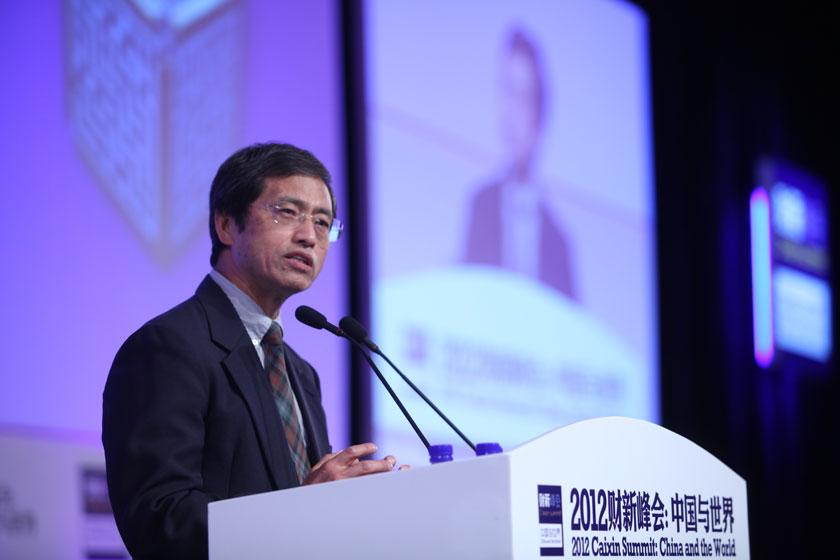 11月17日, 世界银行东亚太平洋金融发展局首席金融专家王君讲话。    牛光/财新记者 _议题:银行改革下一步