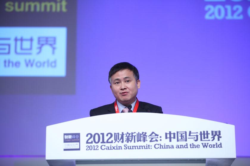 11月17日,中国人民银行副行长潘功胜发言。     牛光/财新记者_议题:金融改革再破题