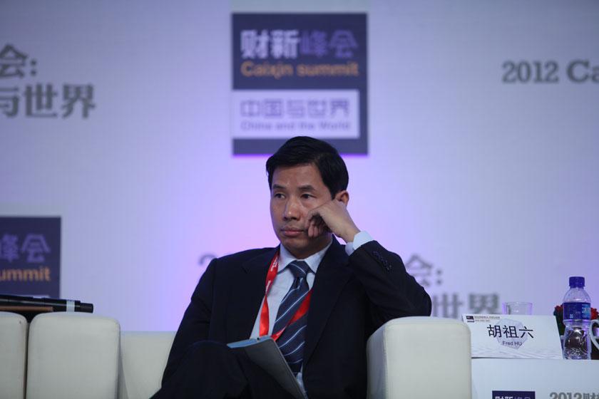 11月17日, 春华资本集团创始人及董事长胡祖六。     牛光/财新记者_议题:金融改革再破题