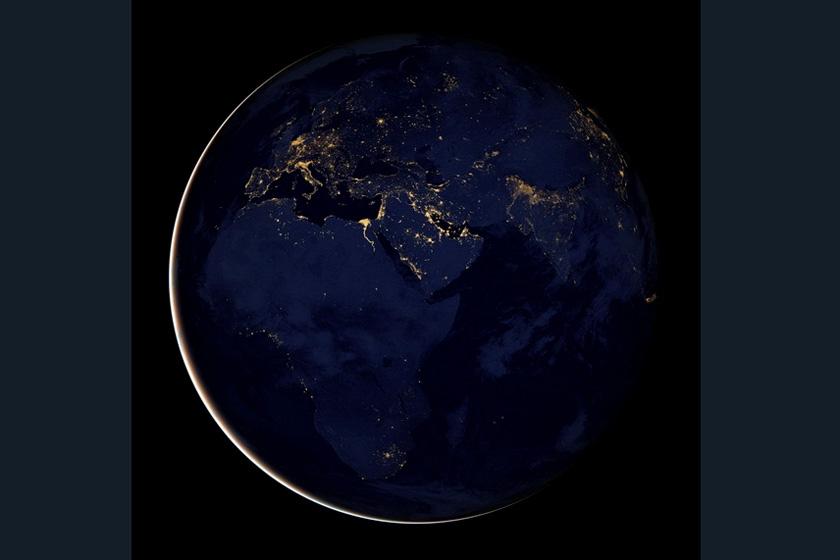 滚动新闻 > nasa公布迄今最清晰夜晚地球卫星画面       nasa公布的