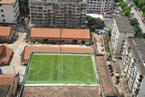 广西南宁20米高楼顶建空中足球场