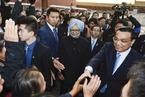 李克强陪同印度总理辛格参观故宫