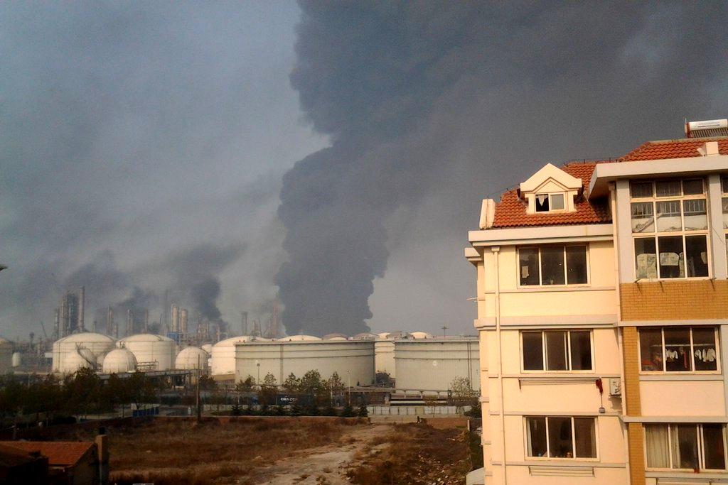 中石化青岛爆燃事故
