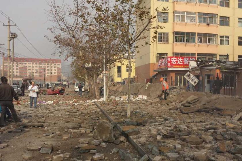 中石化青岛输油管道破裂致爆炸难受图纸图片