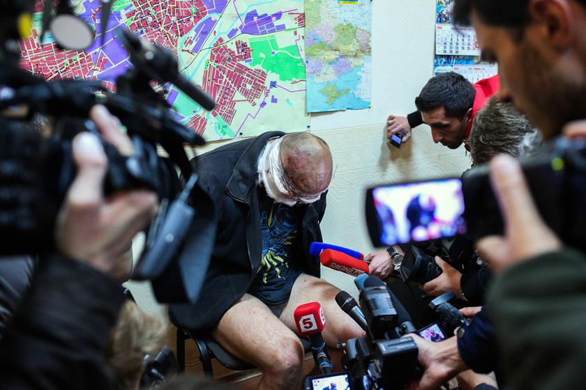乌克兰特种部队军官被抓脱裤示众图片