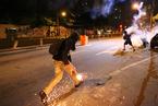 巴西世界杯球场外爆发冲突