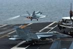 美航母参加韩美海上联合军演