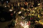 乌克兰民众悼念马航坠机遇难者