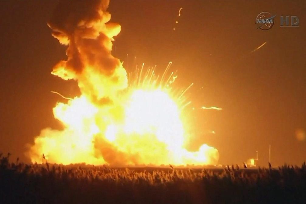 点火升空后发生爆炸