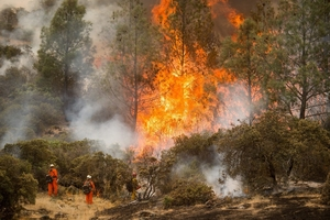 美国加利福尼亚州大火持续蔓延