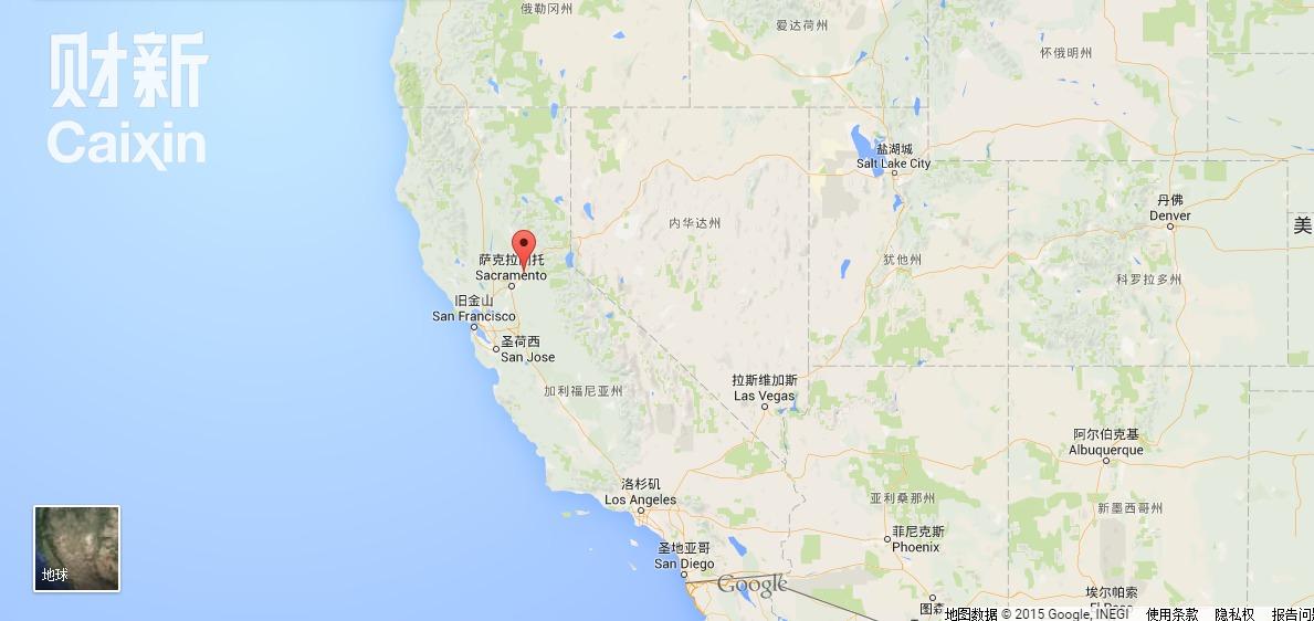 令完成豪宅所在地加利福尼亚州卢米斯. google地图图片