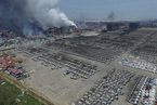 天津港爆炸事故目击