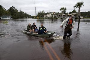 美国南卡罗来纳州遭遇千年一遇暴雨
