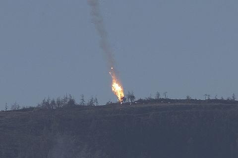 土耳其军方在土叙边境击落一架俄罗斯战机