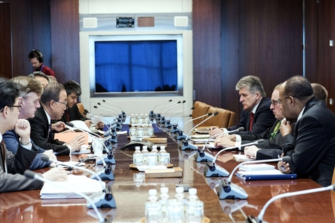 当地时间2016年1月6日,美国纽约,联合国就朝鲜问题召开紧紧急会议。