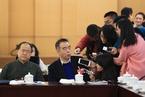 全国政协会议分组讨论 莫言表情逗趣