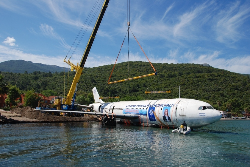 土耳其将a300客机沉海底