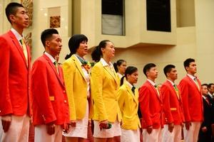 巴西奥运健儿归来 表彰大会在京召开