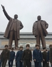 朝鲜民众庆祝金正日诞辰 参谒领导人铜像