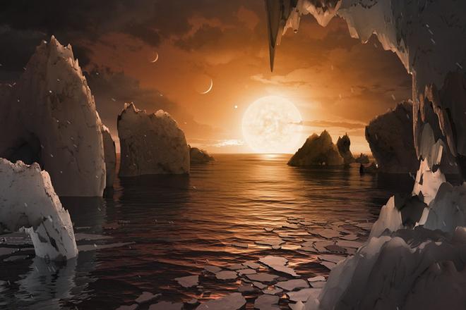 NASA发现太阳系外7颗类地行星 或含液态水