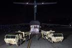 """""""萨德""""部分装备运抵韩国 包括两台发射架"""