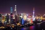 """上海浦江两岸高楼""""联动"""" 点亮巨幅禁烟标语"""