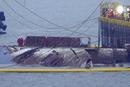 """韩国""""世越号""""客轮沉没3年后打捞出水"""