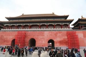 北京故宫午门外墙进行修缮 迎接旅游旺季