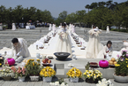 韩前总统卢武铉逝世8周年 民众举行祭拜仪式