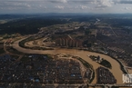 直击湖南洪水重灾区宁乡 天气放晴街道遍布淤泥