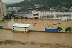 陕西榆林遇大暴雨一水库溃坝,县城被淹群众撤离