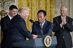 美国总统特朗普宣布富士康在美建厂