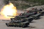 韩美海军举行实战演练 荷枪实弹场面激烈