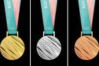2018平昌冬奥会奖牌公布 立体条纹彰显时代感