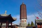 北京通州标志性建筑燃灯塔修缮完成 年底开放