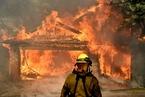 美加州野火蔓延 2.7万居民撤离数百建筑被毁