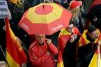 巴塞罗那民众游行 反对加泰罗尼亚地区独立