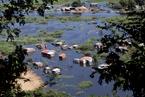 """巴拉圭首都暴雨致洪灾 房屋被淹成""""泽国"""""""