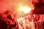 瑞士各地民众游行 抗议特朗普出席达沃斯论坛