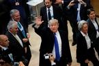 美国总统特朗普出席达沃斯论坛